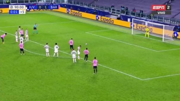 Lionel Messi marcó el segundo gol del Barcelona por la vía del penal
