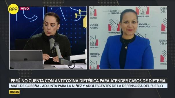 Entrevista a Matilde Cobeña, adjunta para la Niñez y la Adolescencia de la Defensoría del Pueblo.