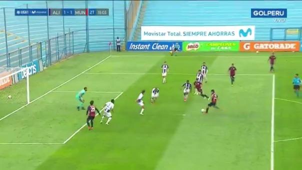 Gol de Renzo Alfani ante Alianza Lima