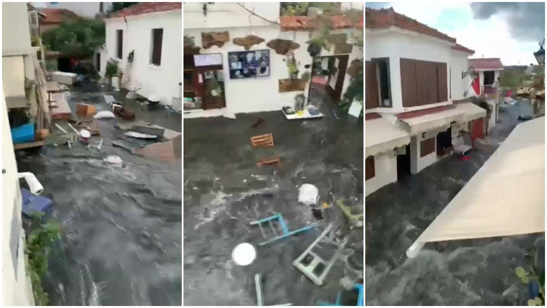 El nivel de agua subió de forma repentina un metro e inundó una importante parte de esta ciudad de Seferihisar.