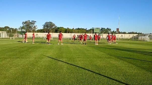 River Plate cumplió con su último entrenamiento previo a jugar con Banfield