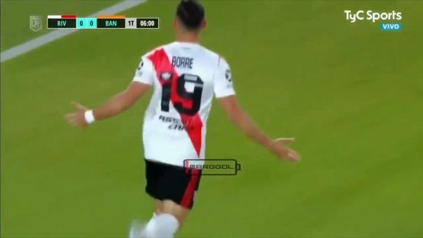River Plate 1-0 Banfield: así fue el gol de Santos Borré