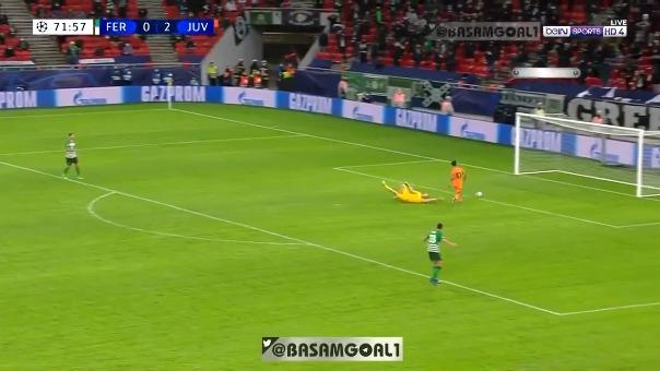 Paulo Dybala anota ante Ferencváros.