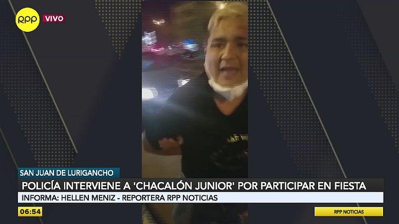 Chacalón Jr. fue conducido a la Comisaría PNP Santa Elizabeth junto con los demás intervenidos.