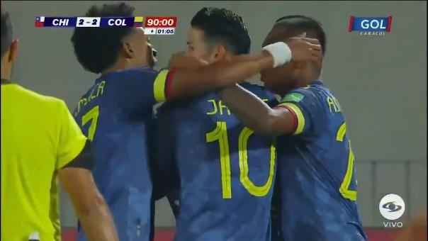 Gol de Radamel Falcao ante Chile
