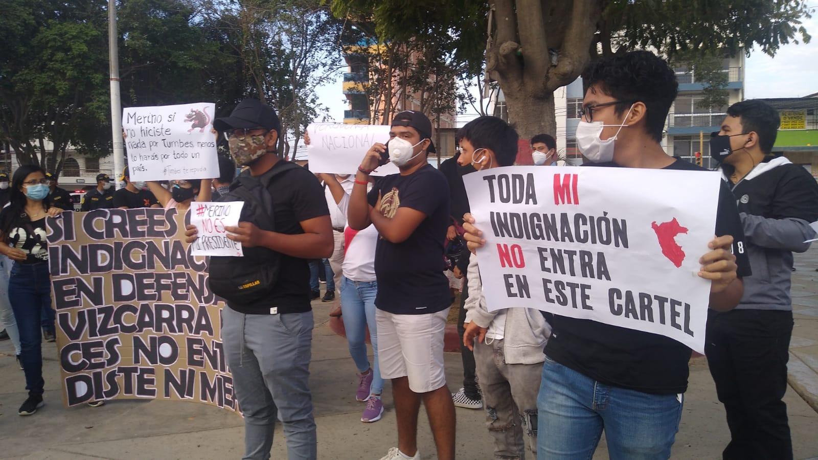 En su mayoría fueron jóvenes estudiantes, quienes se sumaron a la marcha nacional.