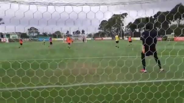 ASí fue el último entrenamiento de Venezuela antes de enfrentar a Brasil
