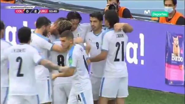 Gol de Luis Suárez ante Colombia