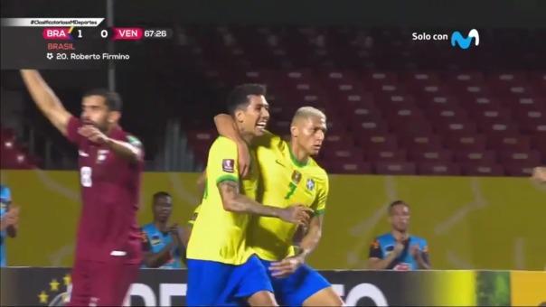 Brasil 1-0 Venezuela: así fue el gol de Roberto Firmino
