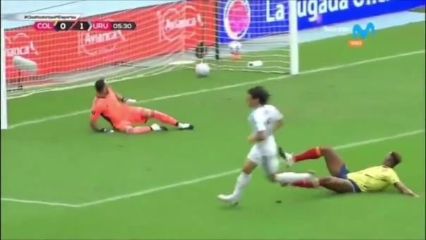 Edinson Cavani abrió el marcador en el Colombia vs. Uruguaya