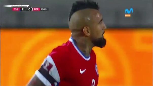 Chile 2-0 Perú: así fueron los goles de Arturo Vidal