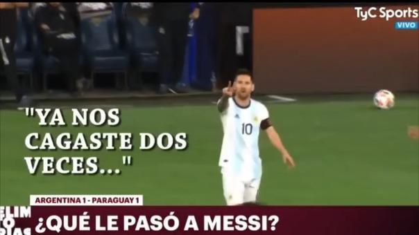 Lionel Messi en el duelo ante Paraguay.
