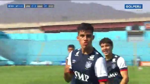 Tercer gol de Jordan Guivin ante Universitario