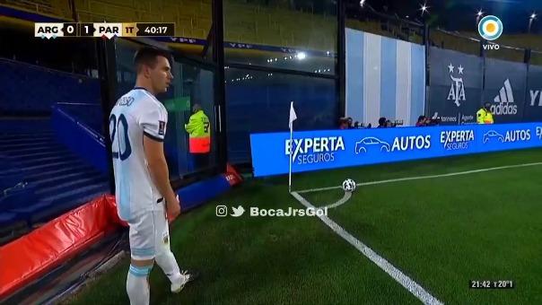 Así fue el gol de Nicolás González a Paraguay.