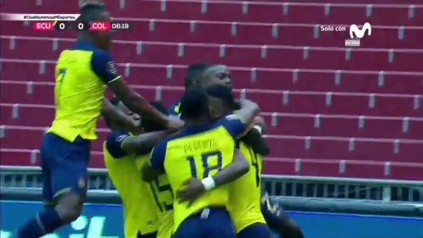 Ecuador 2-0 Colombia: así fueron los dos primeros goles de Ecuador ante Colombia