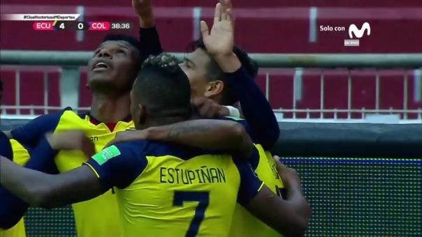 Ecuador 4-0 Colombia: así fue el tercer y cuarto gol de las Eliminatorias Qatar 2022