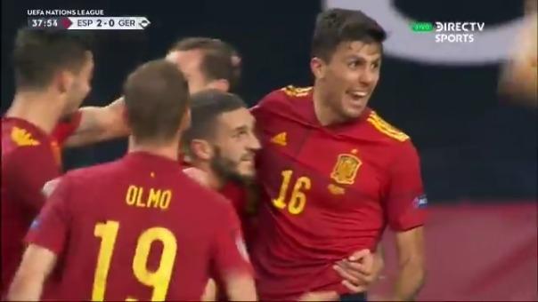 Gol de Rodri ante Alemania