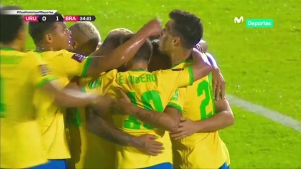 Uruguay vs. Brasil: gol de Arthur Melo ante los charrúas