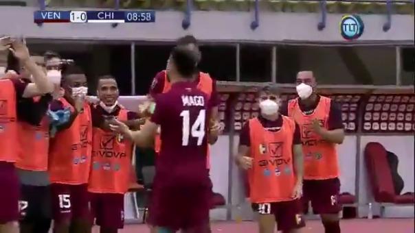 Venezuela 1-0 Chile: así fue el primer gol de Venezuela que lo anotó Mago