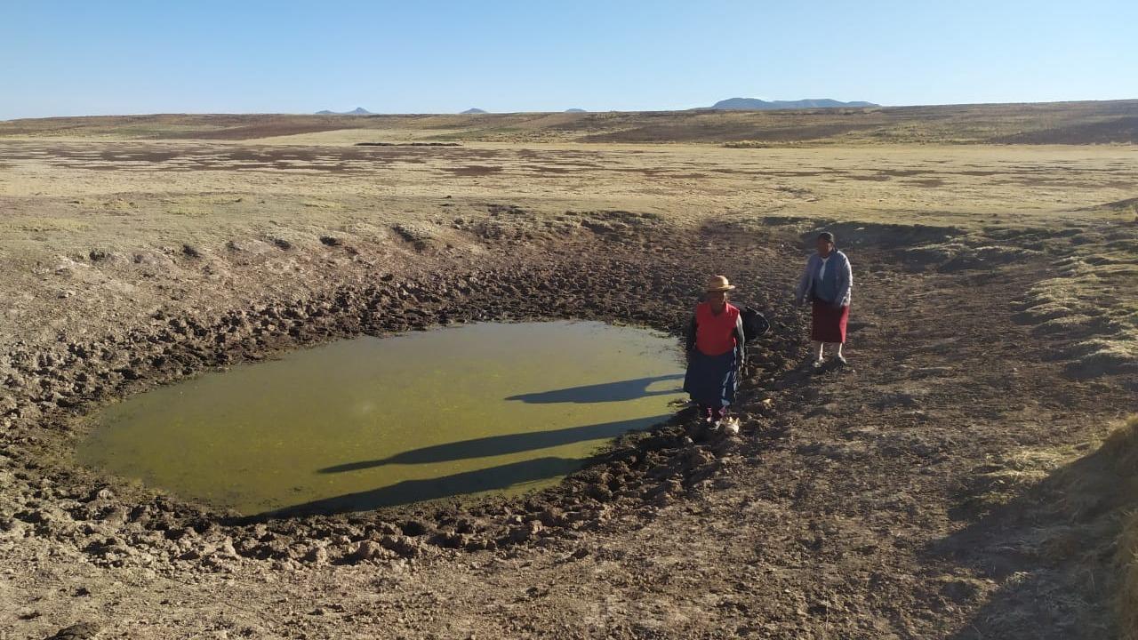 Nueve comunidades declaradas en emergencia hídrica en Puno.