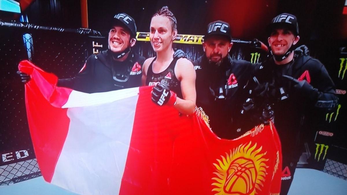 Antonina Shevchenko y su victoria vía TKO en el UFC 255 en Las Vegas