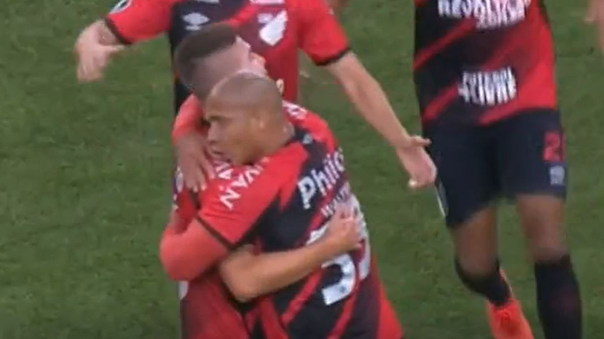 Guilherme Bissoli fue el encargado del primer gol en el River vs. Paranaense.