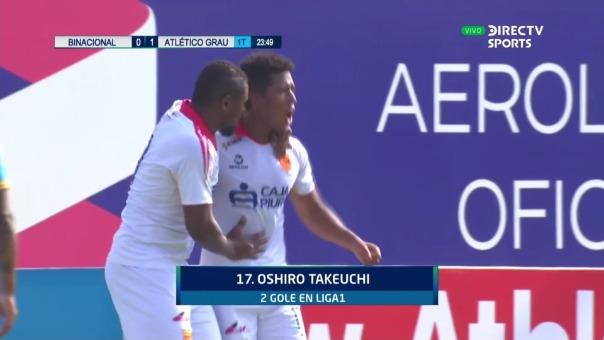 Binacional 0-1: Atlético Grau: así fue el gol de Oshiro Takeuchi