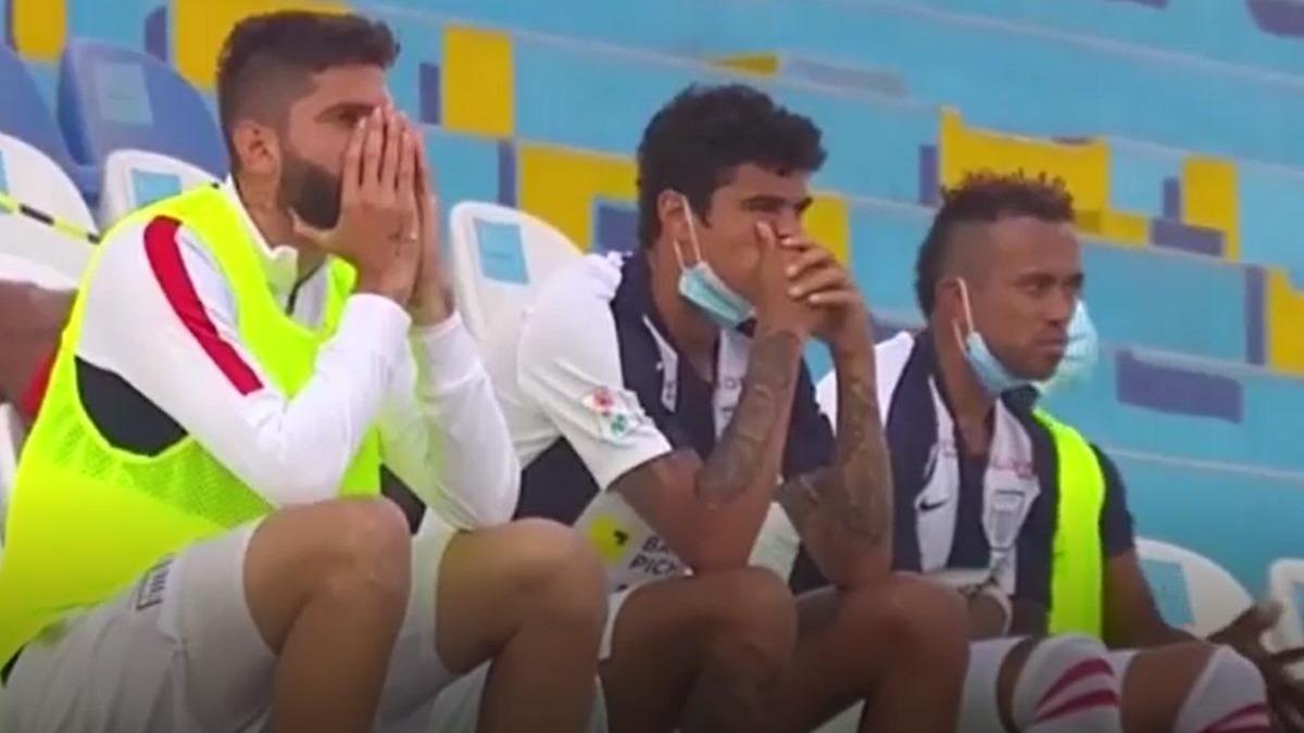 Los rostros de los jugadores de Alianza Lima al final del partido frente al Carlos Mannucci.