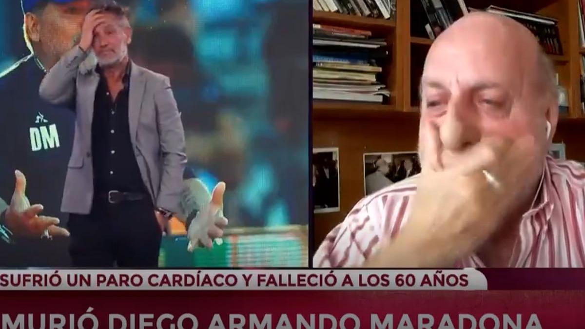 El periodista Diego Armando Maradona rompió en llanto al recordar a Diego Maradona.