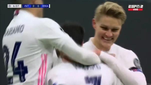 Gol de Eden Hazard ante Inter de Milán