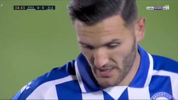 Lucas Pérez anotó el 1-0 de Alavés ante Real Madrid
