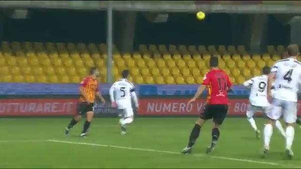 Los goles en el empate entre Benevento y Juventus