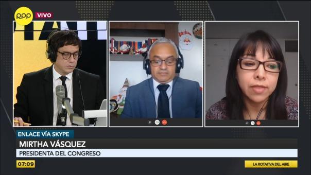 Entrevista a Mirtha Vásquez, presidenta del Congreso.
