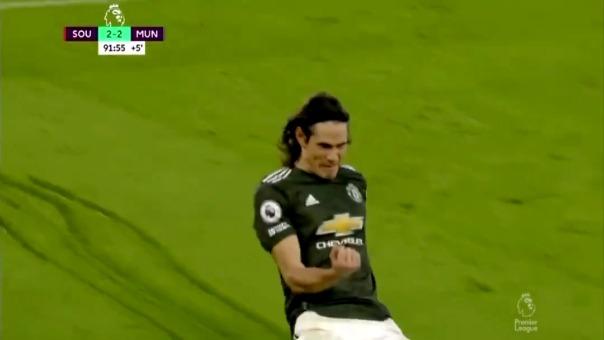 Así fue el segundo gol de Edinson Cavani