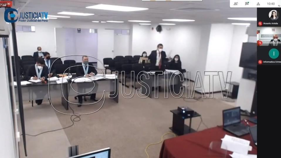 Cuarto Juzgado de Investigación Preparatoria Nacional Especializado en Crimen Organizado analiza solicitud del Ministerio Público.