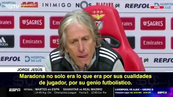 Estas fueron las palabras de Jorge Jesús sobre Lionel Messi.