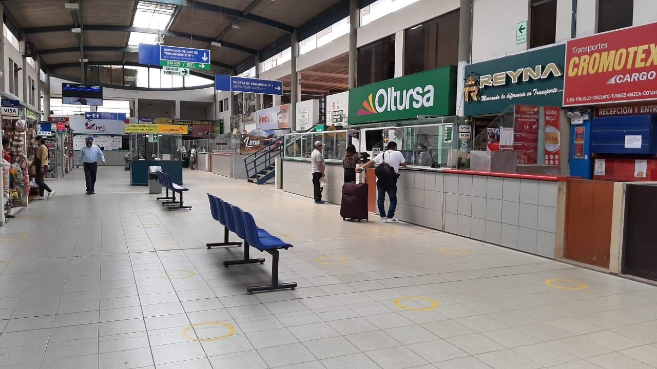 La venta de pasajes para Cusco y Puno se desarrolla con normalidad.