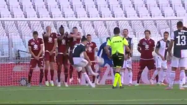 Cristiano Ronaldo ya le anotó de tiro libre a Torino