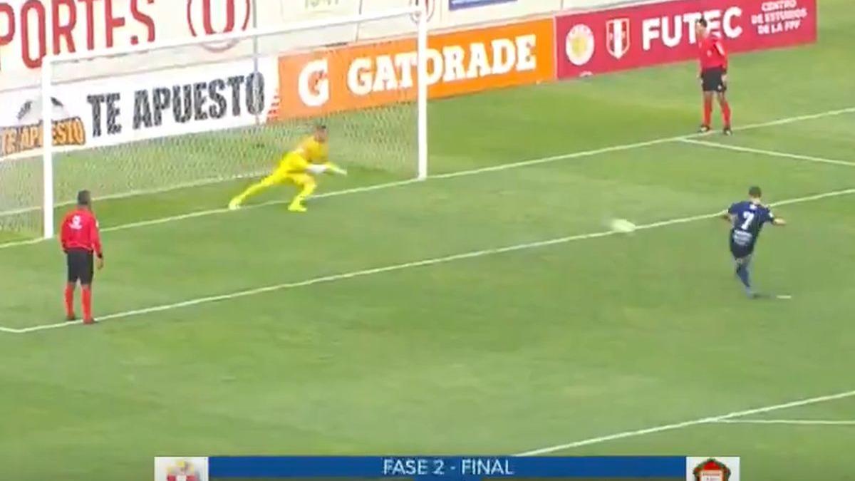 El penal que falló Calcaterra en el Sporting Cristal vs. Ayacucho FC