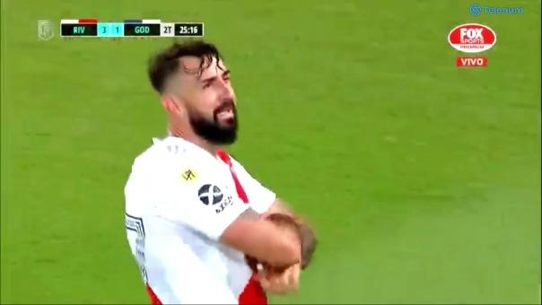 River Plate 3 -1 Godoy Cruz: así fue el gol de Pratto