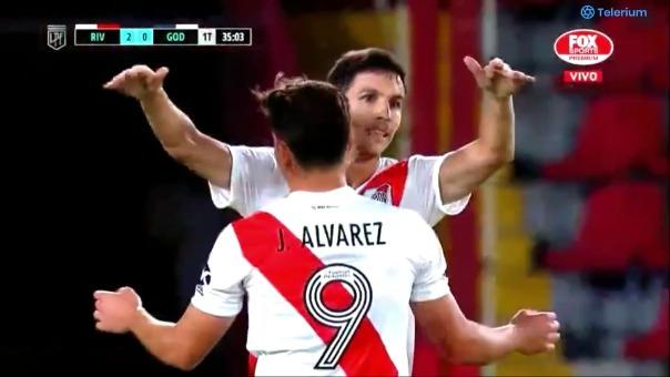 River Plate 2-0 Godoy Cruz: así fue el gol de Álvarez