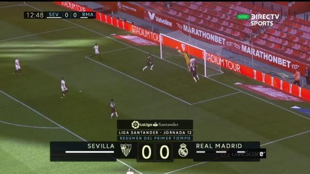 Vinicius Junior perdió un increíble gol ante el Sevilla