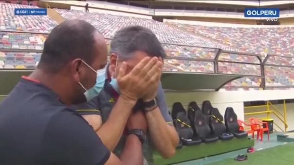 Gerardo Ameli rompió en llanto luego de que Ayacucho FC gane la fase 2
