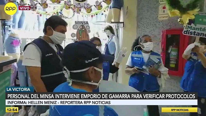 Un equipo de RPP Noticias acompañó a los fiscalizadores en Gamarra.
