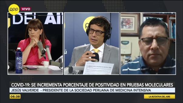 Entrevista a Jesús Valverde, presidente de la Sociedad Peruana de Medicina Intensiva.