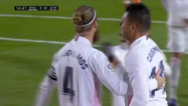Casemiro anotó el 1-0 del Real Madrid ante el Atlético
