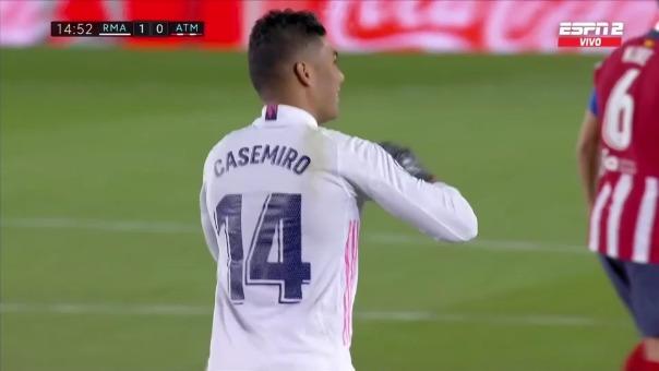 Real Madrid 1-0 Atlético de Madrid: así fue el gol de Casemiro