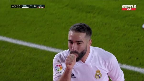 Real Madrid 2-0 Atlético de Madrid: así fue el gol de Carvajal