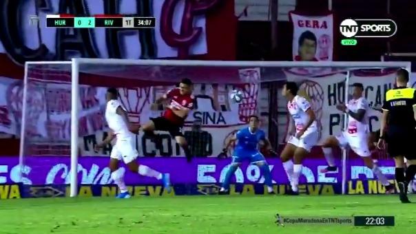 Huracán 0-2 River Plate: así fue el gol de Nicolás De la Cruz
