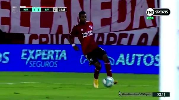 Nicolás de la Cruz anotó un doblete en la victoria de River Plate ante Huracán por 3-1